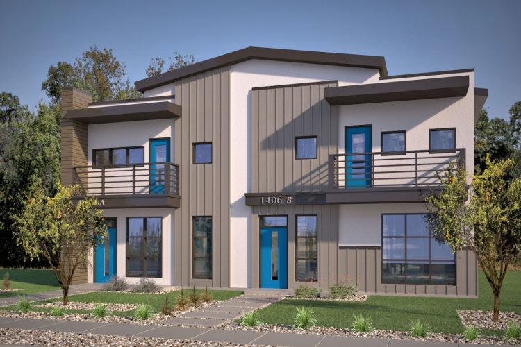 Avi Homes Single Duplex Blue